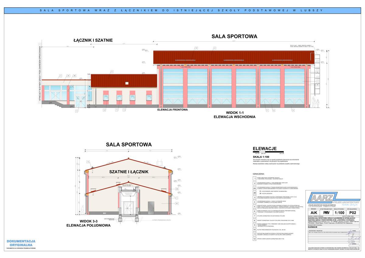 2 Segregator1 02 Projekt sali gimnastycznej przy Szkole Podstawowej w Laskówce Chorąskiej