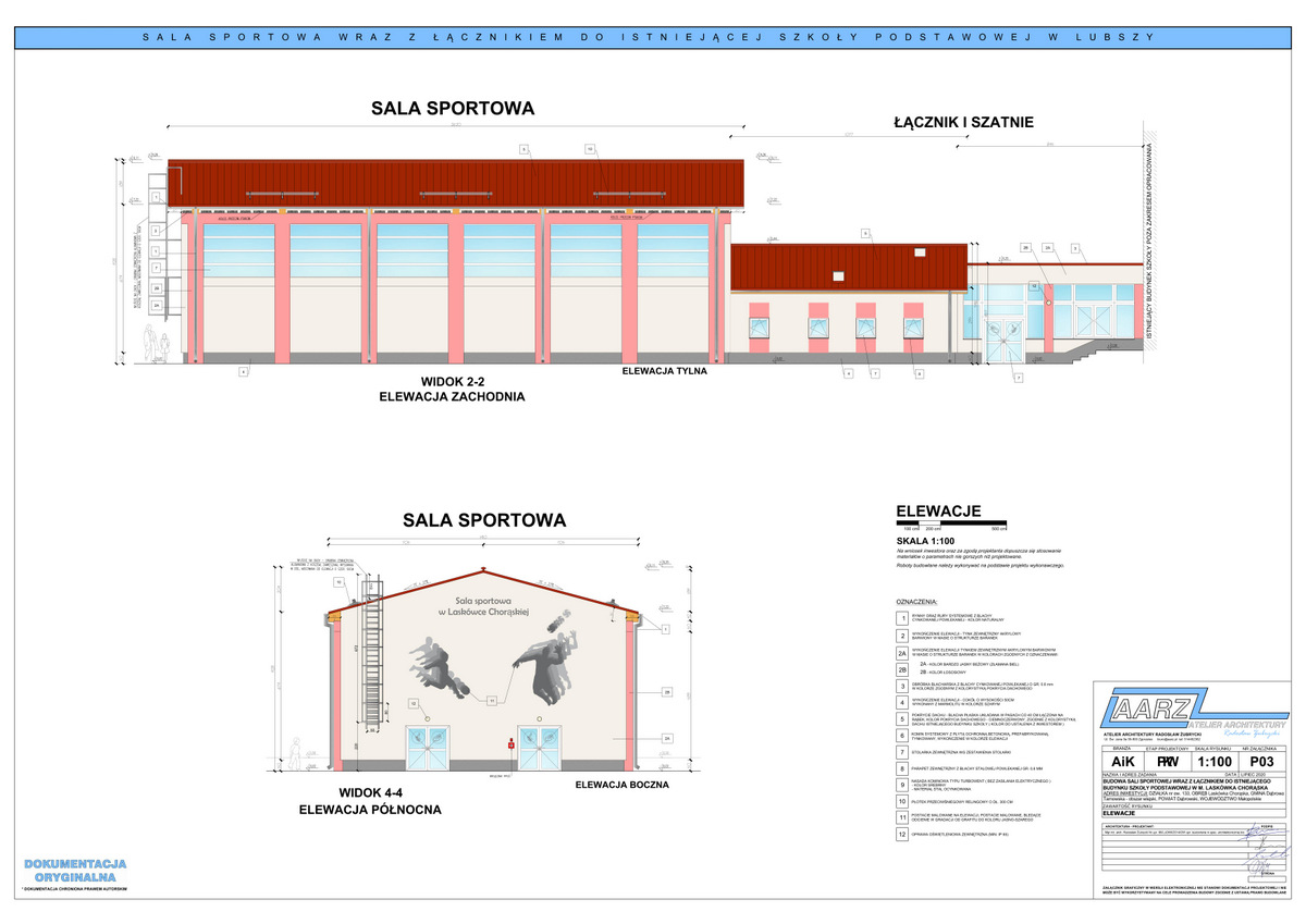 3 Segregator1 03 Projekt sali gimnastycznej przy Szkole Podstawowej w Laskówce Chorąskiej
