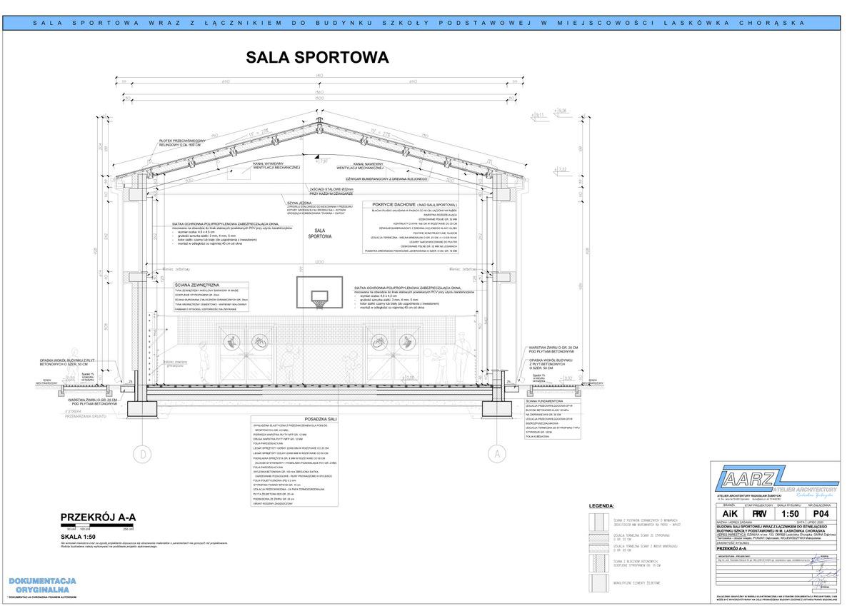4 Segregator1 04 Projekt sali gimnastycznej przy Szkole Podstawowej w Laskówce Chorąskiej