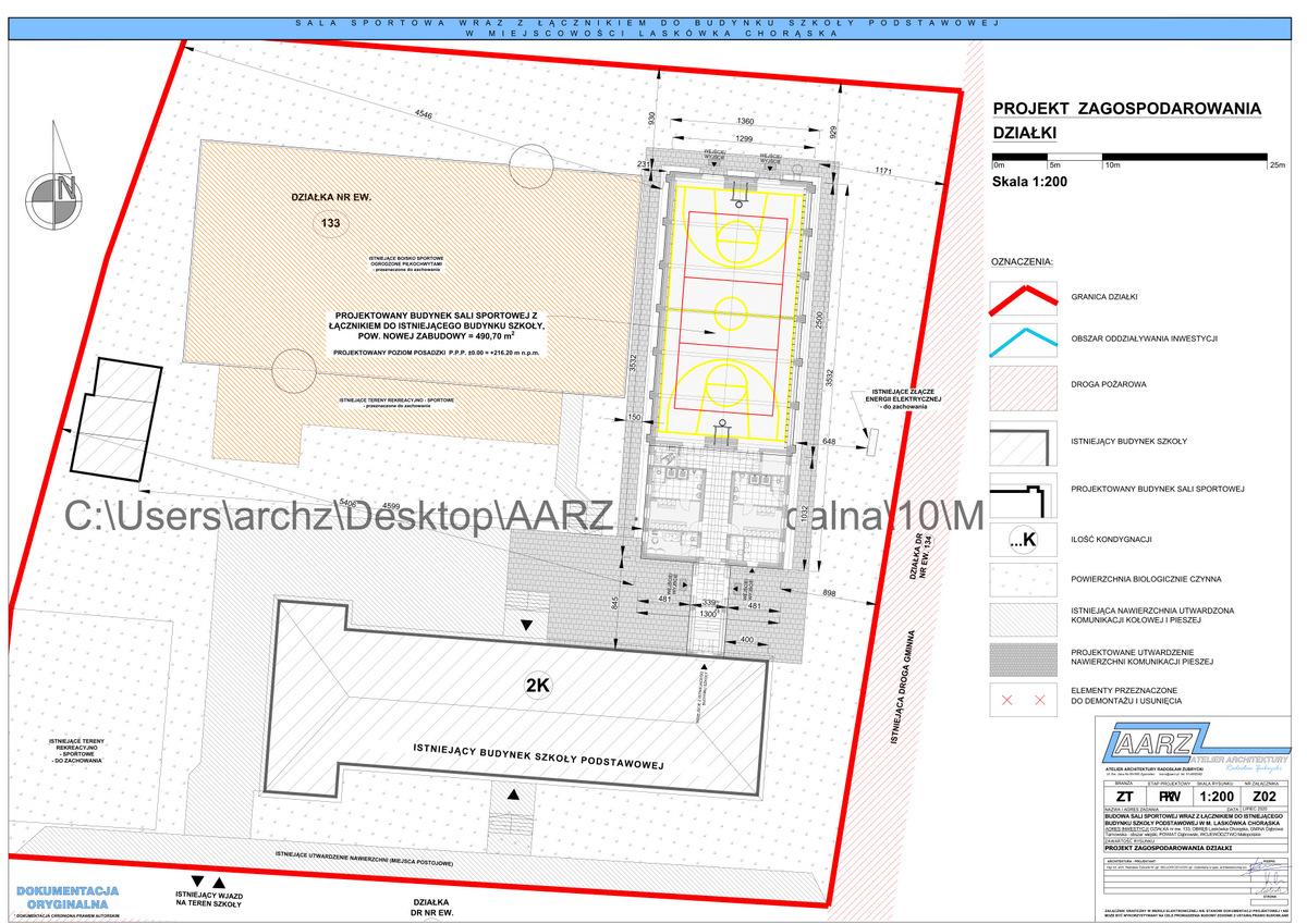 6 Segregator1 06 Projekt sali gimnastycznej przy Szkole Podstawowej w Laskówce Chorąskiej