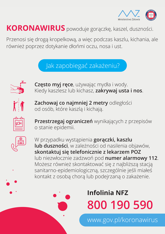 KV plakat A3 OGO╠üLNY NOWY 19052020 Od wtorku 28 lipca Urząd Miejski w Dąbrowie Tarnowskiej zamknięty dla Petentów!