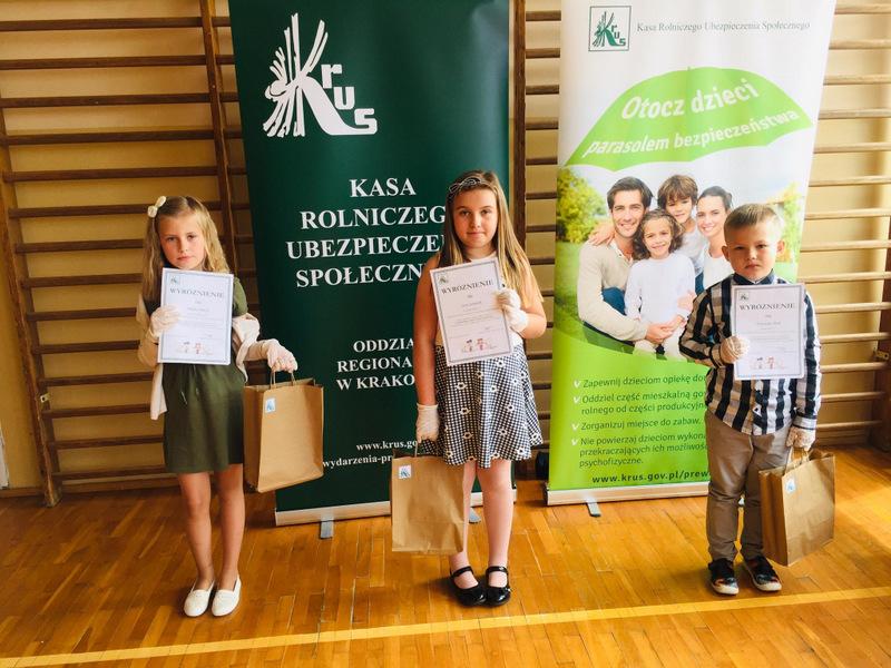 Konkurs KRUS LCh 2020 14 Finał etapu powiatowego X edycji Ogólnopolskiego Konkursu Plastycznego dla dzieci organizowanego przez Kasę Rolniczego Ubezpieczenia Społecznego