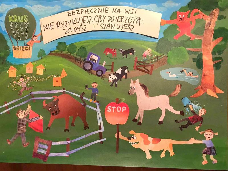 Konkurs KRUS LCh 2020 8 Finał etapu powiatowego X edycji Ogólnopolskiego Konkursu Plastycznego dla dzieci organizowanego przez Kasę Rolniczego Ubezpieczenia Społecznego