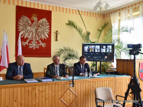 XXII Sesja RMDT 23 07 2020 XXII sesja Rady Miejskiej w Dąbrowie Tarnowskiej