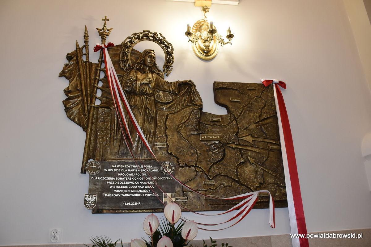 DSC 0047 3be4731f Dąbrowa Tarnowska uczciła 100. rocznicę Cudu nad Wisłą