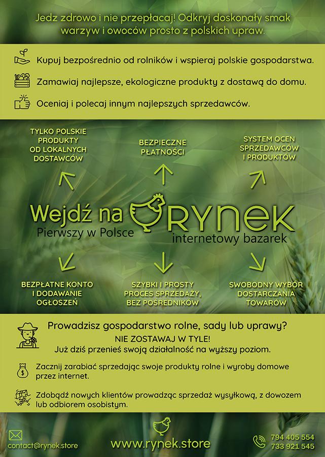 RYNEK plakat Rynek XXI wieku dla lokalnych sprzedawców i producentów