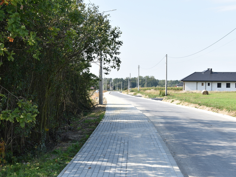 DSC 0190 Roboty drogowe przy ul. Czernia już w fazie końcowej