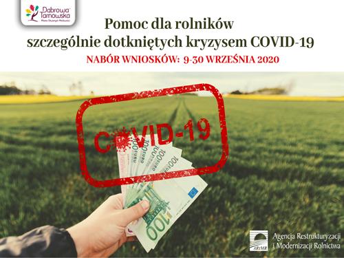 Pomoc dla rolników szczególnie dotkniętych kryzysem COVID 19 Rusza pomoc dla rolników szczególnie dotkniętych kryzysem COVID 19