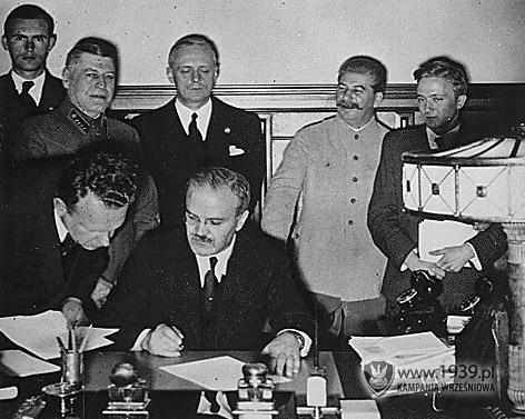 Ribbentrop Mołotow Hitler Stalin 81. rocznica wybuchu II wojny światowej