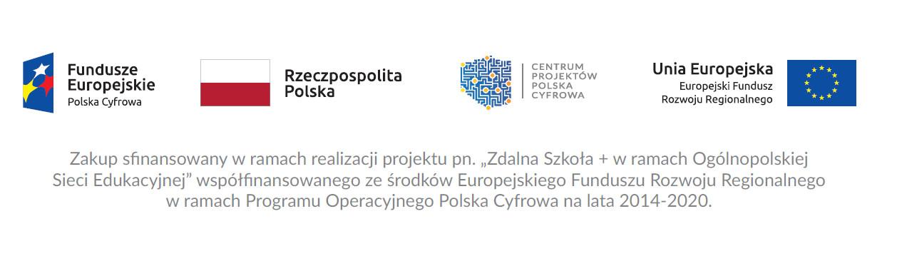 naklejka zdlana szkola plus Zdalna Szkoła Plus w Gminie Dąbrowa Tarnowska