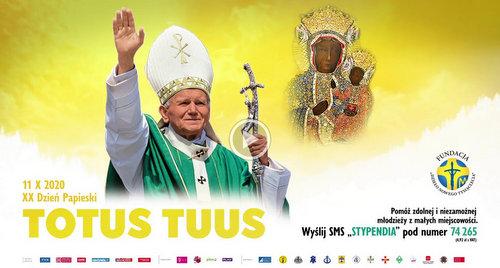 20. DZIEŃ PAPIESKI.jpg XX Dzień Papieski pod hasłem Totus Tuus