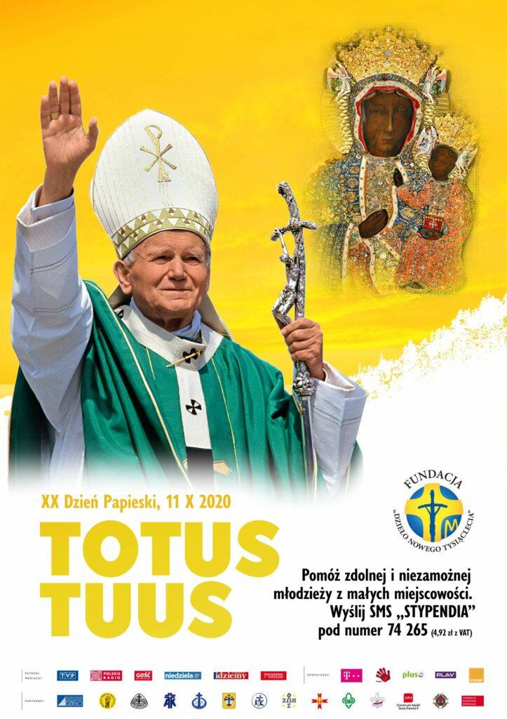 JP2pl2020 723x1024 XX Dzień Papieski pod hasłem Totus Tuus