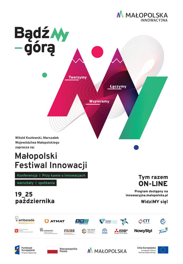 MFI2020 plakat 680x980 v3 Małopolski Festiwal Innowacji   w tym roku on line!