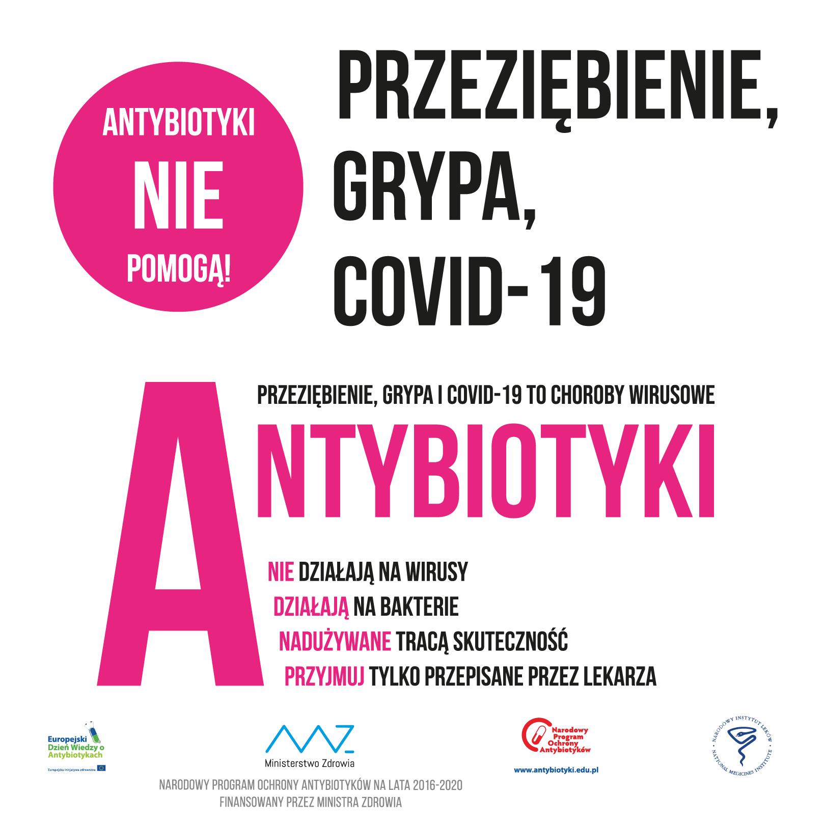 Antybiotyki nie pomogą z CoV 2a Antybiotyki nie zwalczą koronawirusa   przyjmuj tylko te zalecone przez lekarza