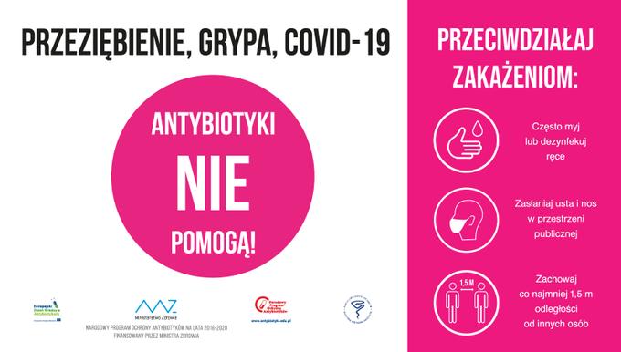 Antybiotyki nie pomogą z CoV2 Antybiotyki nie zwalczą koronawirusa   przyjmuj tylko te zalecone przez lekarza