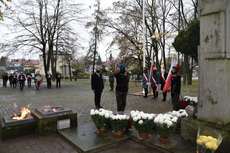 DSC 0258 Dąbrowskie obchody 102. rocznicy odzyskania niepodległości przez Polskę