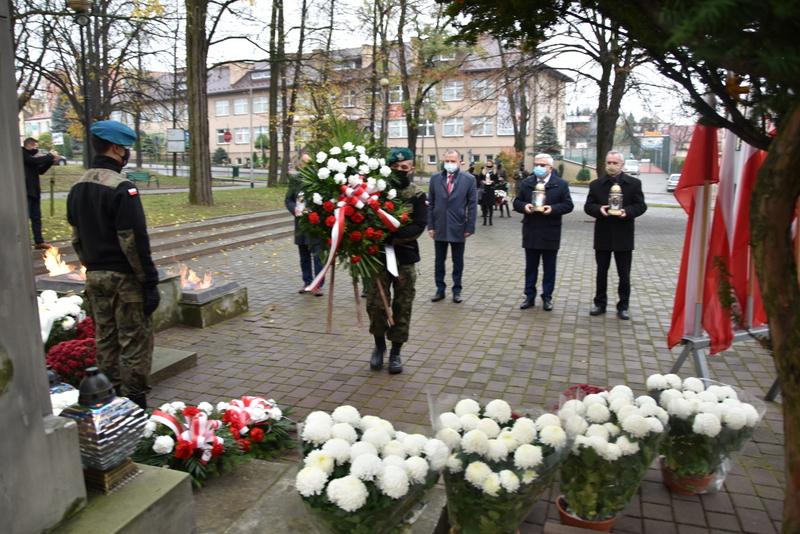 DSC 0269 Dąbrowskie obchody 102. rocznicy odzyskania niepodległości przez Polskę
