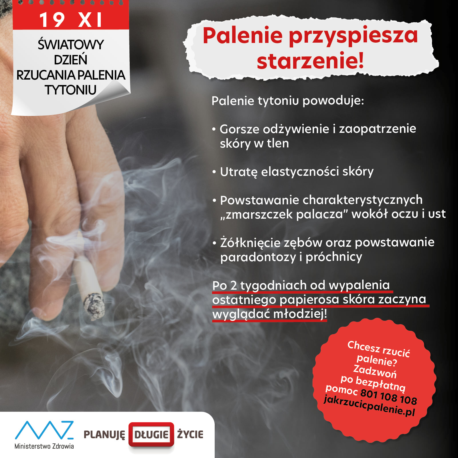 palenie Rzuć palenie dzisiaj w Światowym Dniu Rzucania Palenia Tytoniu