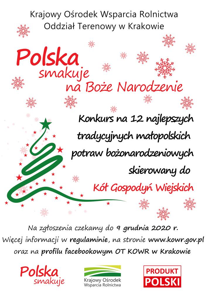 Poska smakuje na święta BN Polska smakuje na Boże Narodzenie   konkurs dla Koła Gospodyń Wiejskich