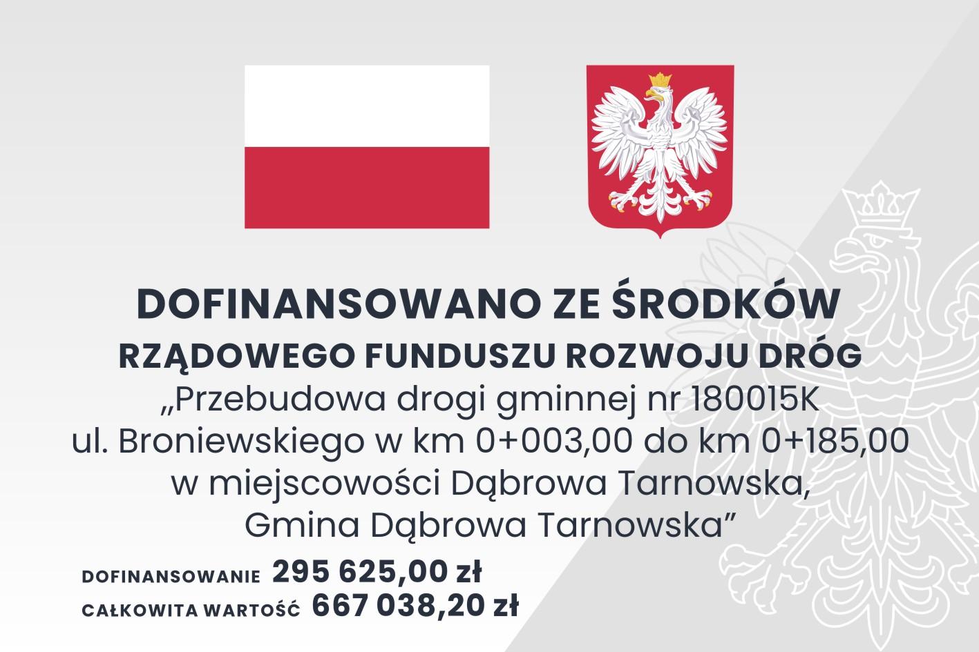 RFRD 90x60 <cent />Fundusz Dróg Samorządowych<br>w Gminie Dąbrowa Tarnowska</center>