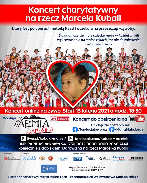 koncert dla Marcel Kubala Charytatywny koncert online na rzecz chorego Marcela