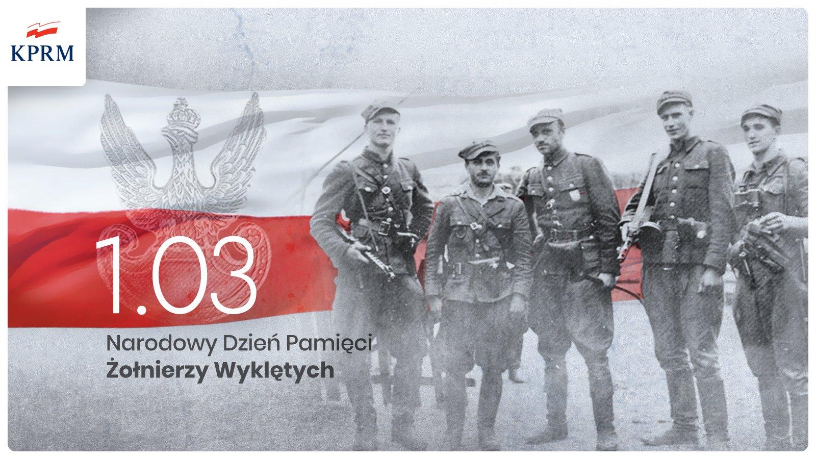 1 03 NDZW 1 marca   Narodowy Dzień Pamięci Żołnierzy Wyklętych< />Cześć i chwała Bohaterom!