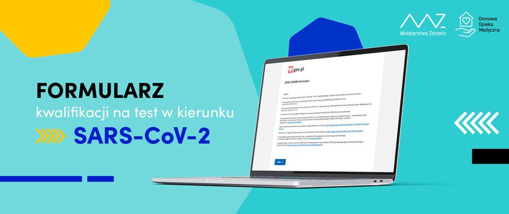 Formularz kwalifikacji na test SARS CoV2 Chcesz zapisać się na test przeciw Covid 19? Wypełnij formularz.