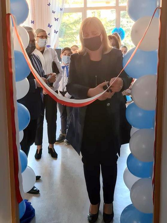 Otwarcie pracowni integracji sensorycznej SP3 Dąbrowa Tarnowska 1 Otwarcie pracowni integracji sensorycznej w dąbrowskiej Trójce