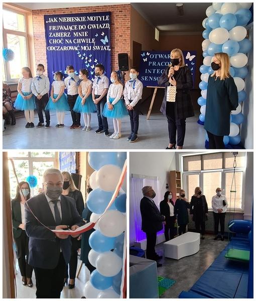 Otwarcie pracowni integracji sensorycznej SP3 Dąbrowa Tarnowska Otwarcie pracowni integracji sensorycznej w dąbrowskiej Trójce