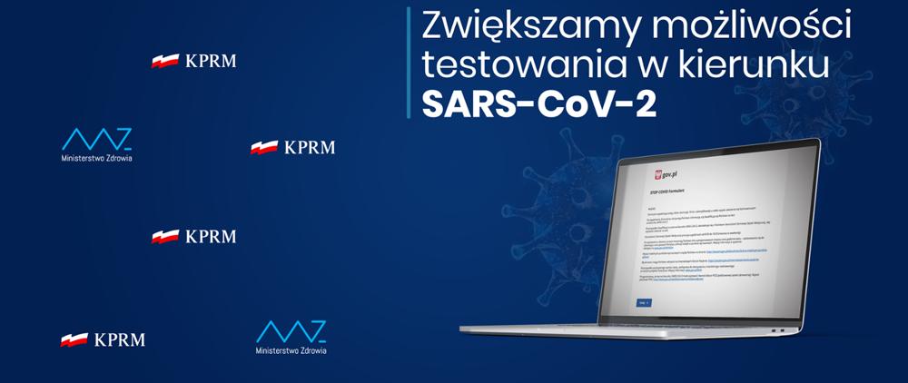 Zwiększamy możliwość testowania na SARS CoV2 Chcesz zapisać się na test przeciw Covid 19? Wypełnij formularz.