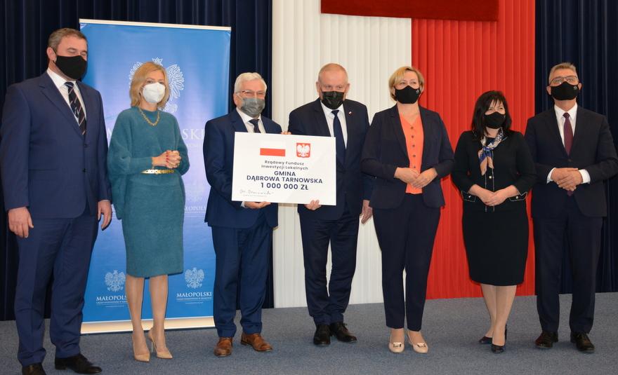 1 DSC 83171 Środki Rządowego Funduszu Inwestycji Lokalnych dla Dąbrowy Tarnowskiej i samorządów Powiśla