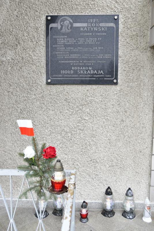 DSC 0945 Dąbrowa Tarnowska uczciła pamięć Ofiar Katynia