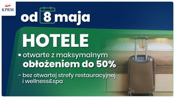 hotele Stopniowe łagodzenie zasad bezpieczeństwa w maju