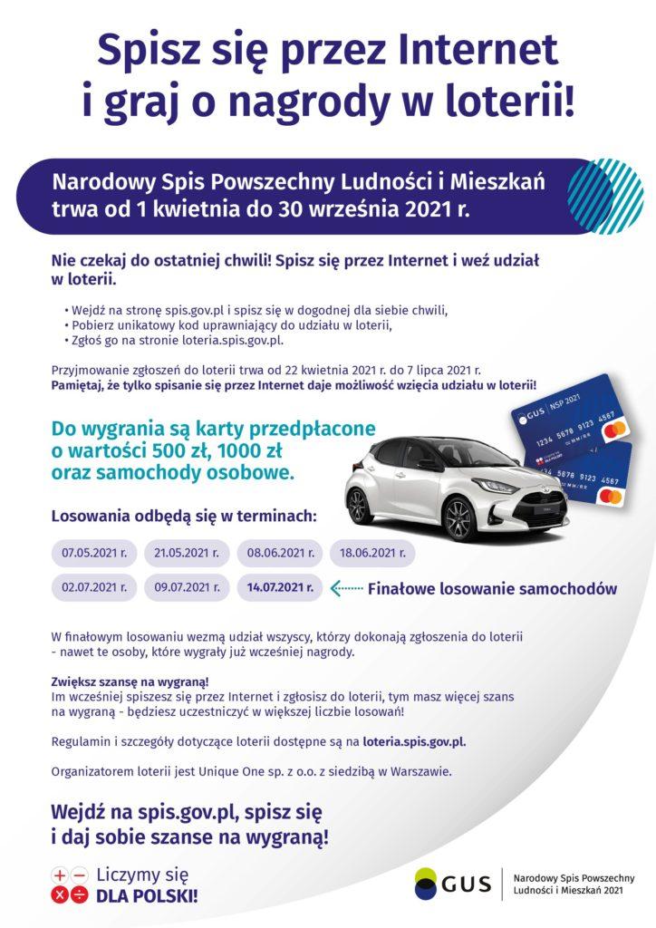 reklama loteria NSP 02 724x1024 Spisz się przez internet i graj o nagrody w loterii Narodowego Spisu Ludności i Mieszkań 2021