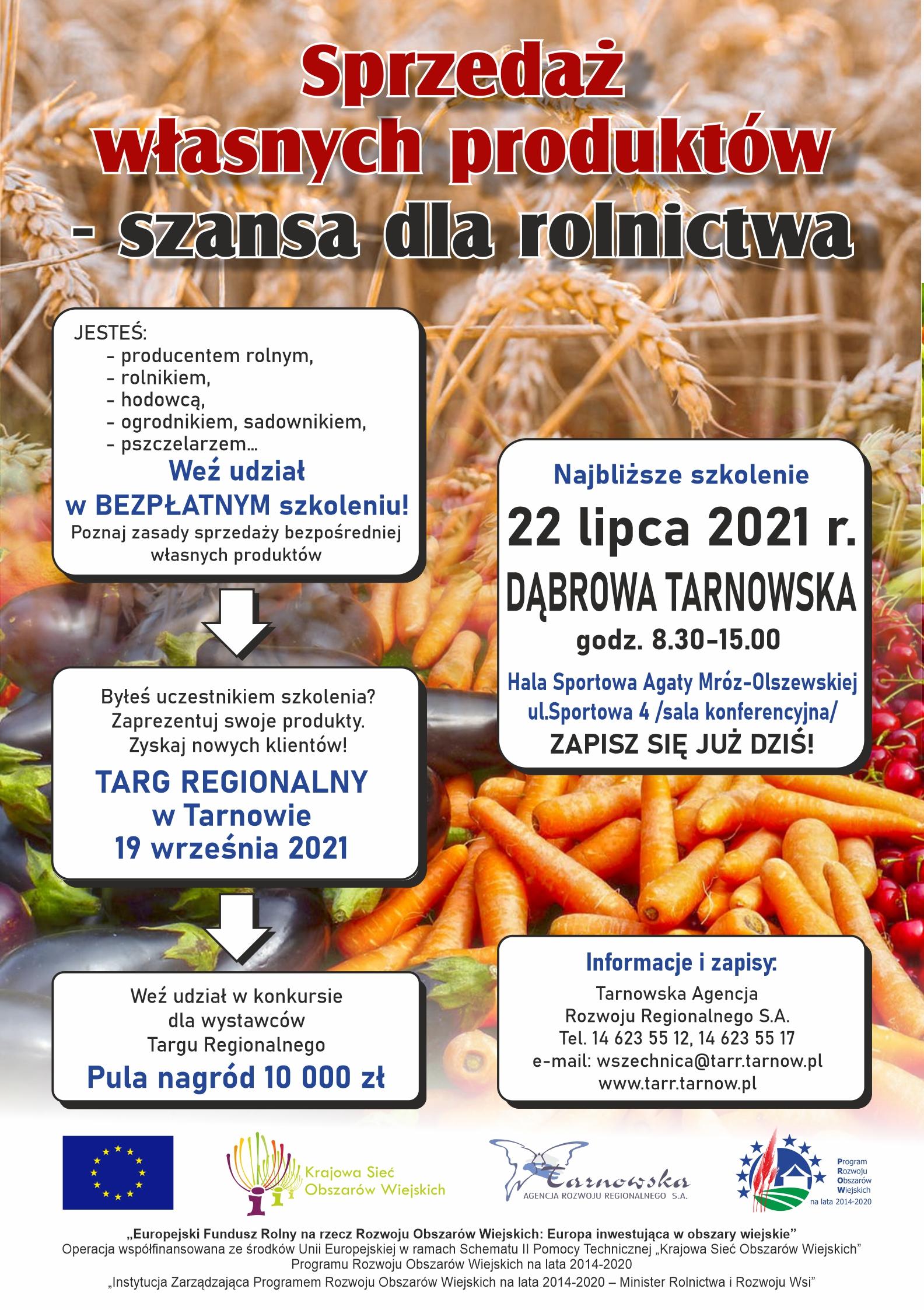 DĄBROWA TARNOWSKA Bezpłatne szkolenie dla rolników!