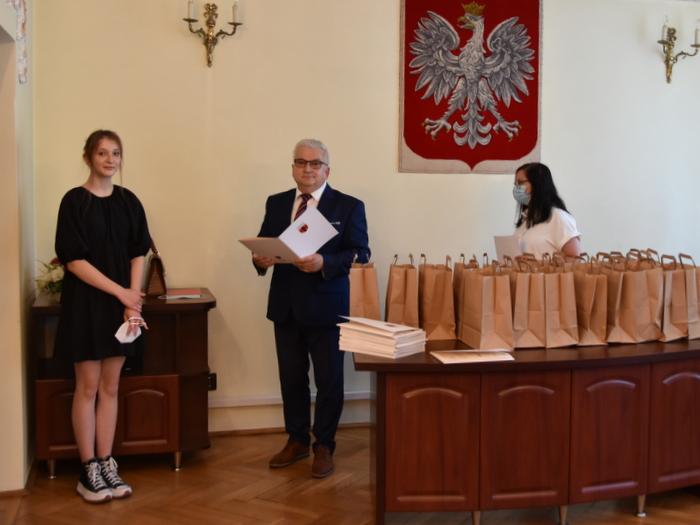DSC 0264 Uroczystość wręczenia stypendiów Burmistrza Dąbrowy Tarnowskiej