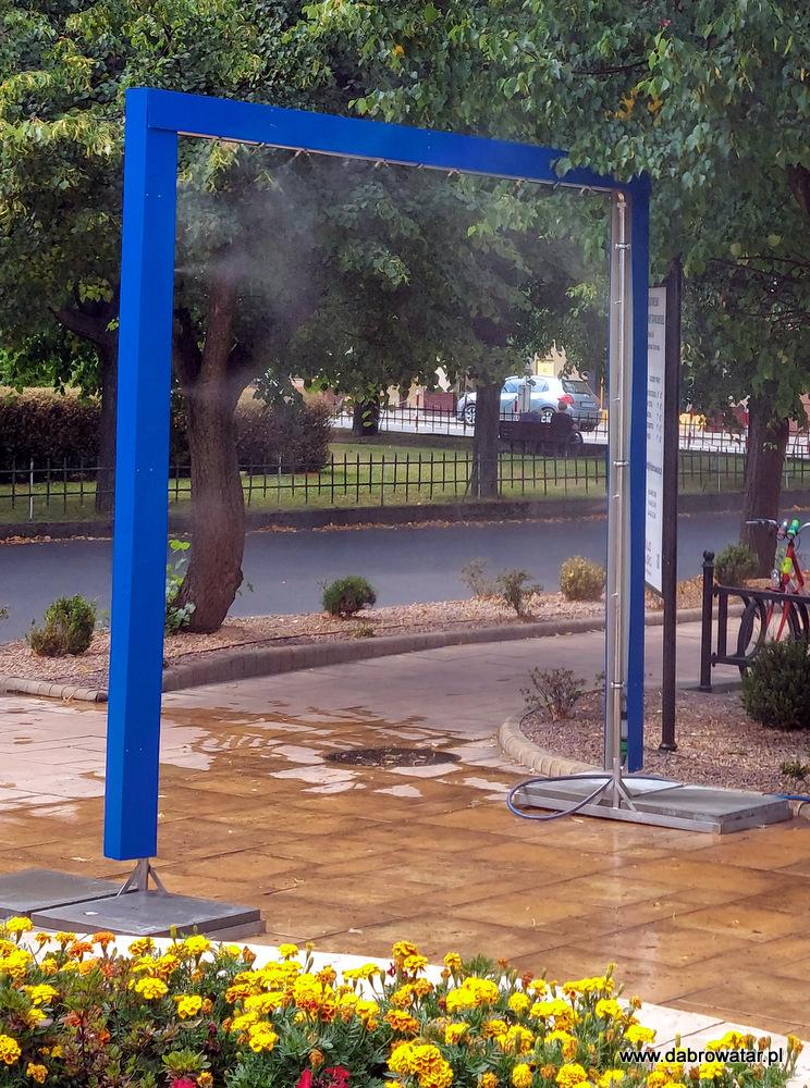 Kurtyna wodna w Dąbrowie Tarnowskiej 5 Kurtyna wodna przed dąbrowskim Urzędem Miejskim