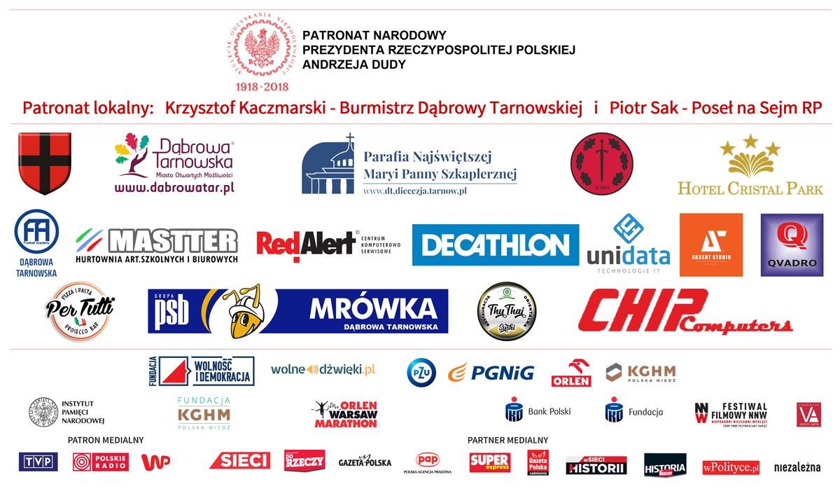 Patroni Partnerzy Sponsorzy BTW 2021 DT Zapraszamy na Bieg Tropem Wilczym   Dąbrowa Tarnowska   15 sierpnia 2021