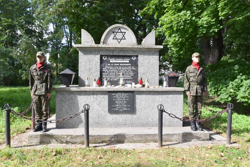 Upamiętnienie wywozy Żydów DT2021 11 Upamiętnienie tragicznych wydarzeń w historii miasta