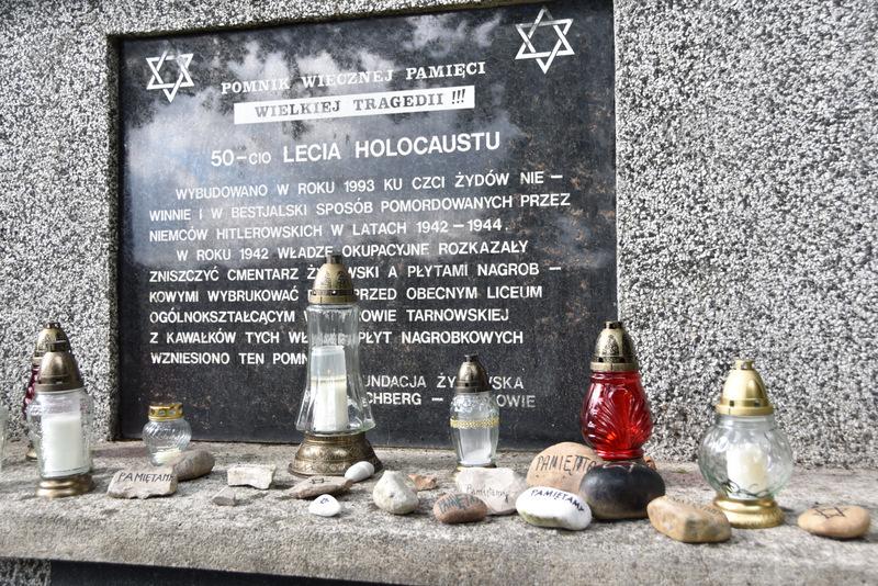 Upamiętnienie wywozy Żydów DT2021 9 Upamiętnienie tragicznych wydarzeń w historii miasta
