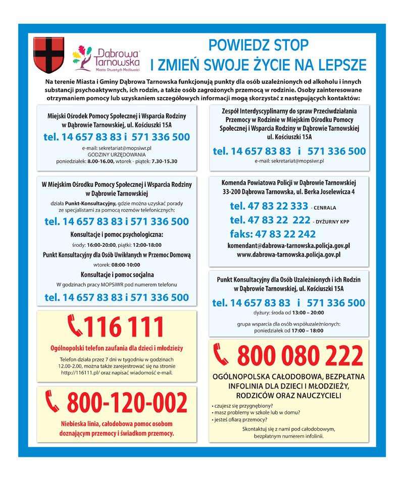ośrodki pomocowe Gmina Dąbrowa Tarnowska1 Gmina Dąbrowa Tarnowska włączyła się do projektu Otwórz się na pomoc